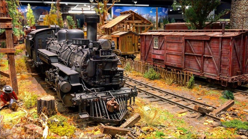 detailed railroad model